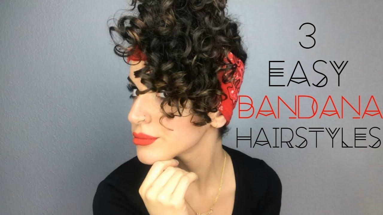 3 Easy Bandana Hairstyles Youtube