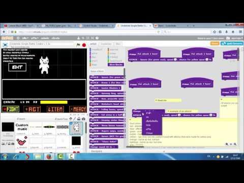 Undertale Simple Battle Creator v 3.3a My battle