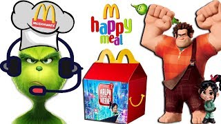 THE GRINCH Gets a Job @ McDonalds RALPH BREAKS THE INTERNET Happy Meal Surprise Toys