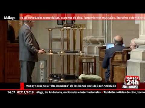 """Noticia - Moody's resalta la """"alta demanda"""" de los bonos emitidos por Andalucía"""