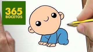 COMO DIBUJAR BEBE KAWAII PASO A PASO - Dibujos kawaii faciles - How to draw a BABY