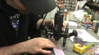 How To Use A Dremel And Router Attachment To Make Designs For Terrain
