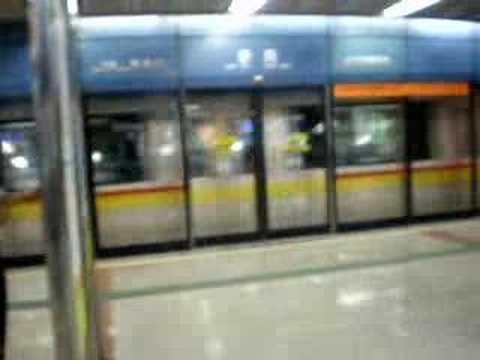 En la estacion del metro en Guangzhou China