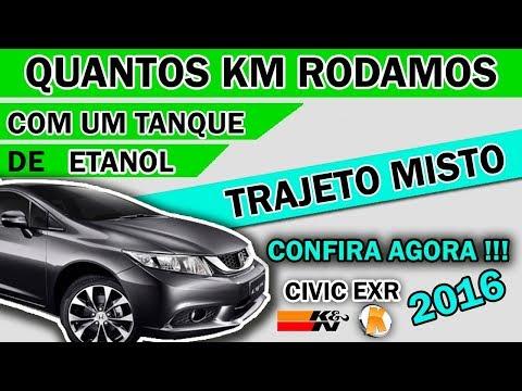 Honda Civic - Autonomia (KM) - | 1 Tanque de ETANOL | - Ktuner + K&N
