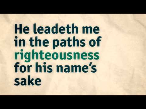 Psalm 23 / Psalm of David. The Lord is My Shepherd. Audiobible Animation.