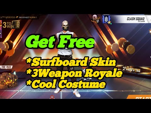 How To Get Free SurfBoard Skin And Costume In Free Fire | Godslinger Gaming
