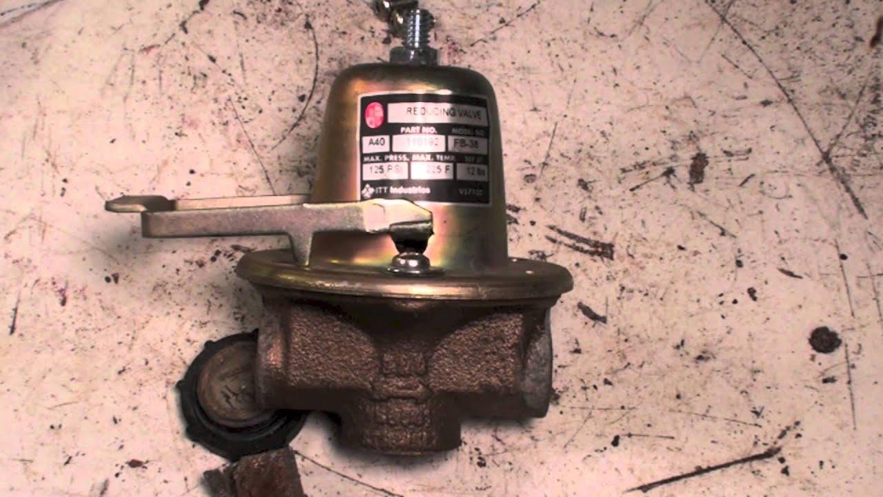 Troubleshoot the boiler pressure reducing valve - YouTube
