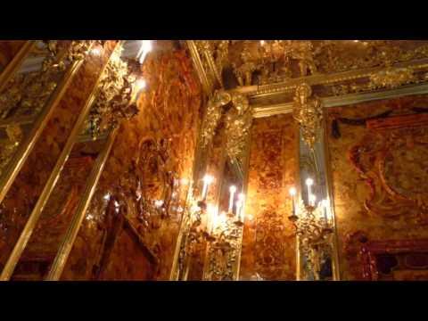 琥珀廳 Amber Room Catherine Palace St Petersburg Russia