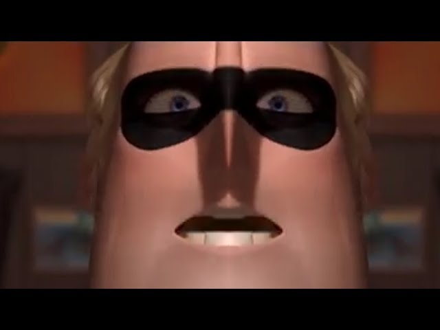 The Incredibles Teaser Trailer but while Mr Incredible is trying to put on his belt he becomes long