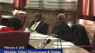 Housing, Urban Development & Zoning 2-4-2015