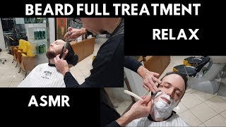 💈 - Traditional italian barber - Beard care, face shave manual clippers & straight razor - ASMR