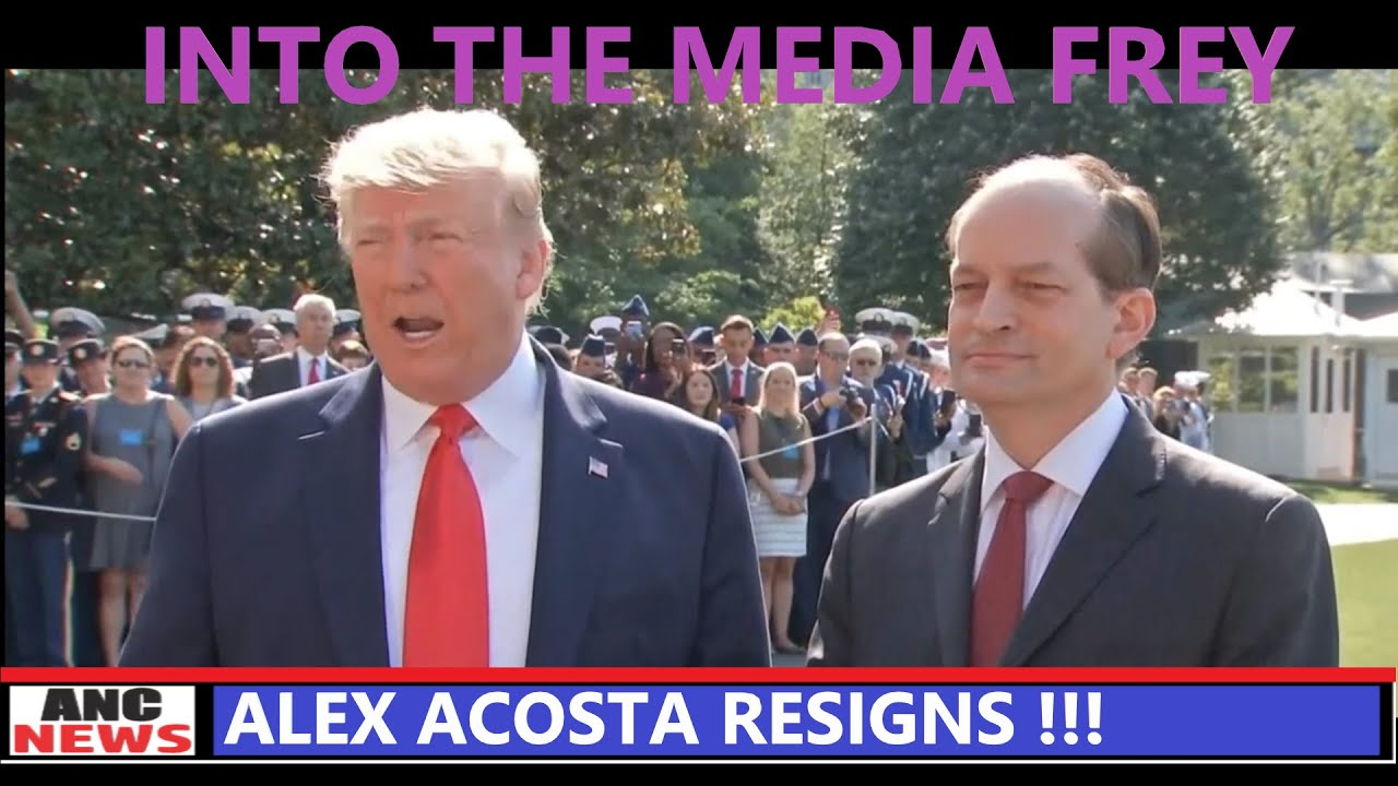 Into The FREY!!...TRUMP Walks Alex Acosta Out of The White House
