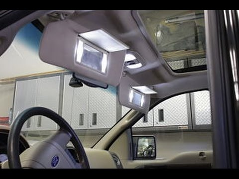 how to install f150 04 08 interior map led lights f150leds com youtube. Black Bedroom Furniture Sets. Home Design Ideas