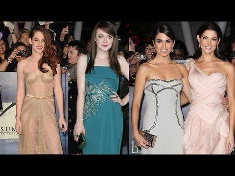 Breaking Dawn Part 2 Fashion Recap - Kristen Stewart Nikki Reed Dakota Fanning Ashley Greene