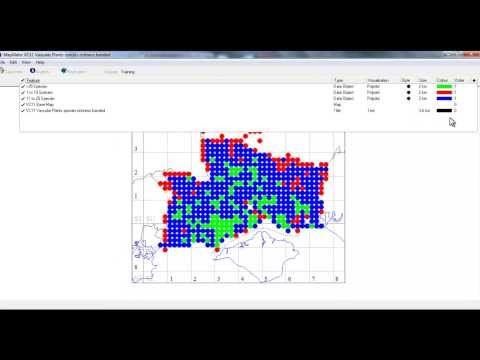 Mapping species richness for 2km squares with number of species