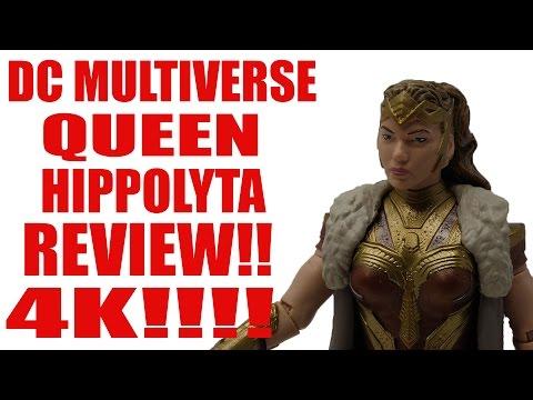 DC MULTIVERSE WONDER WOMAN MOVIE HIPPOLYTA FIGURE REVIEW 4K!!
