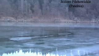 Pilchowice i ujście rzeki Kamienicy do Bobru zimą - Zalew Pilchowicki