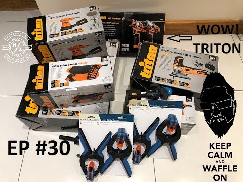 Triton Tools - sanders - drills and more tools to make things with - woodworking