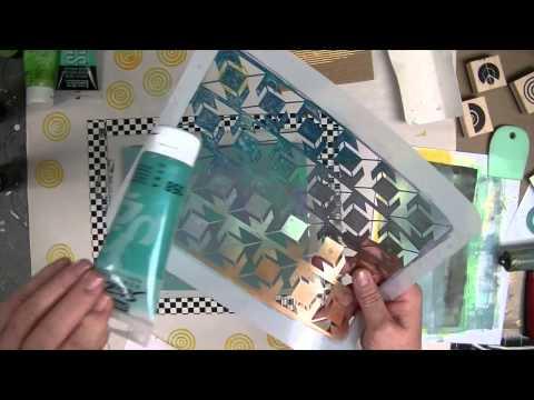 Cloth Paper Scissors -- Gelli JumpStart Journal Demo -- Part 1 - Patti Tolley Parrish