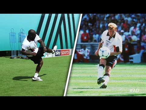 OUTRAGEOUS TOP BIN! Akinfenwa recreates Paul Scholes goal v Tunisia! 😲 | World Cup Challenge