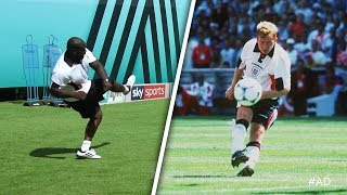 OUTRAGEOUS TOP BIN! Akinfenwa recreates Paul Scholes goal v Tunisia! 😲 | World Cup Challenge