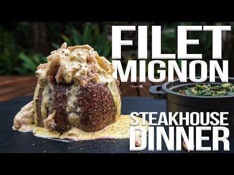 Perfect Filet Mignon Steakhouse Dinner | SAM THE COOKING GUY 4K