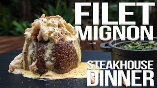 Perfect Filet Mignon Steakhouse Dinner | SAM THE COOKING GUY 4K