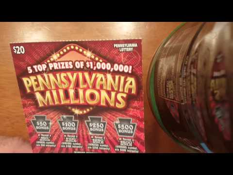 Brand New!!! PA lottery ALL ABOUT THE BENS AND PA MILLIONAIRE scratch offs!!