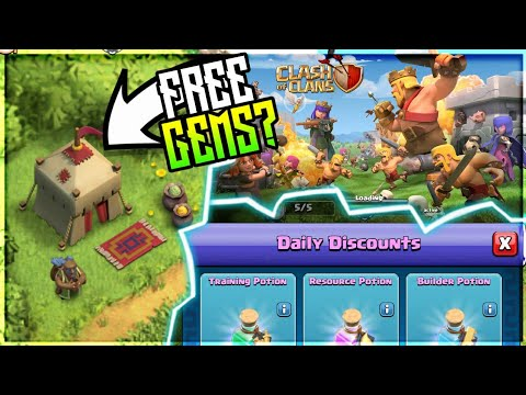 FREE GEMS FROM TRADER? SPRING/MARCH UPDATE CLASH OF CLANS•FUTURE T18