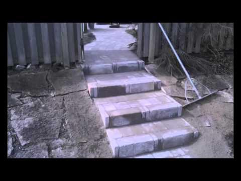 stenläggning - trappor utfört av ** STENBLIXTEN ** - YouTube