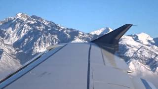 Delta A319 - Minneapolis to Salt Lake City landing w/ stunning mountain views