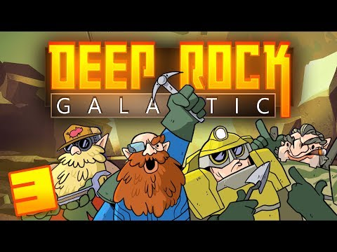 Deep Rock Galactic - #3 - Spider Chasm Infestation! (4-Player Closed Alpha Gameplay)