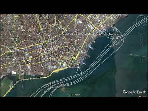 Tour of Cebu Island, Philippines via Google Earth