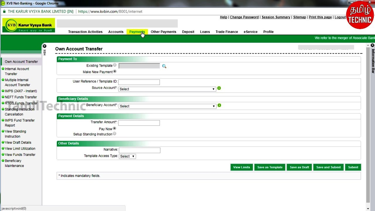 Kvb Online Abrechnung : kvb to kvb money transfer in net banking kvb money transfer online tamil technic youtube ~ Themetempest.com Abrechnung
