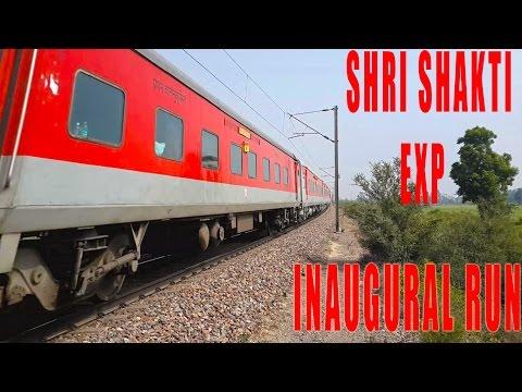 INAUGURAL RUN SHRI SHAKTI EXPRESS at Top Speed - ALCo honking LHB Rajdhani rake
