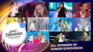 All the winners of the Junior Eurovision Song Contest (2003 - 2020)