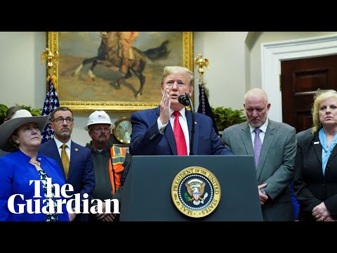 Trump re-writes environmental protections and says 'I am a big believer in the environment'