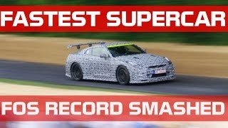 FASTEST EVER SUPERCAR AT GOODWOOD FOS- GT-R NISMO