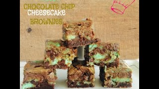 Mint Chocolate Chip Cheesecake Brownies