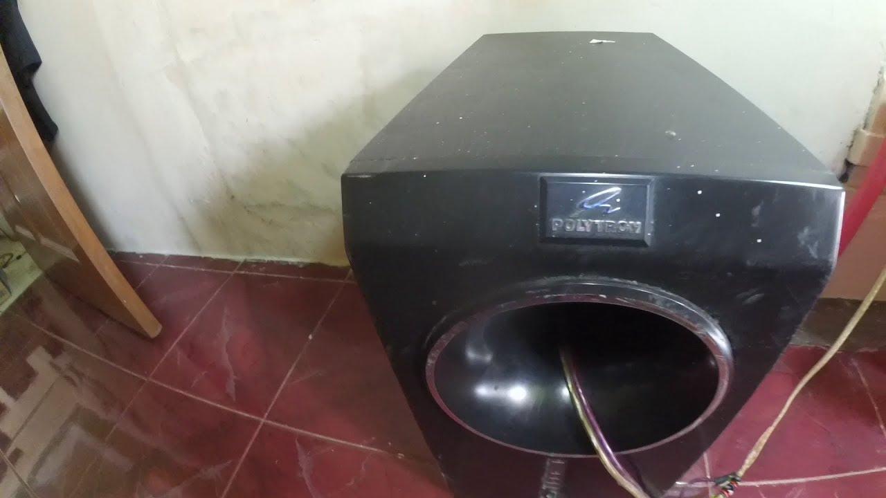 TEST SUBWOOFER POLYTRON PSW600 MODIF  YouTube