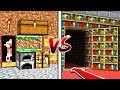 MINECRAFT - NOOB VS PRO: SECRET ROOMS! (With UNSPEAKABLEGAMING)