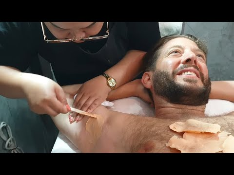 $3 ARMPIT WAXING in PATTAYA THAILAND: Total Hair Removal Ripped to the Roots