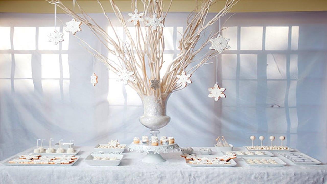 DIY Winter Wonderland Wedding Ideas - YouTube
