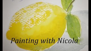 How to paint a lemon in watercolour paint, using a