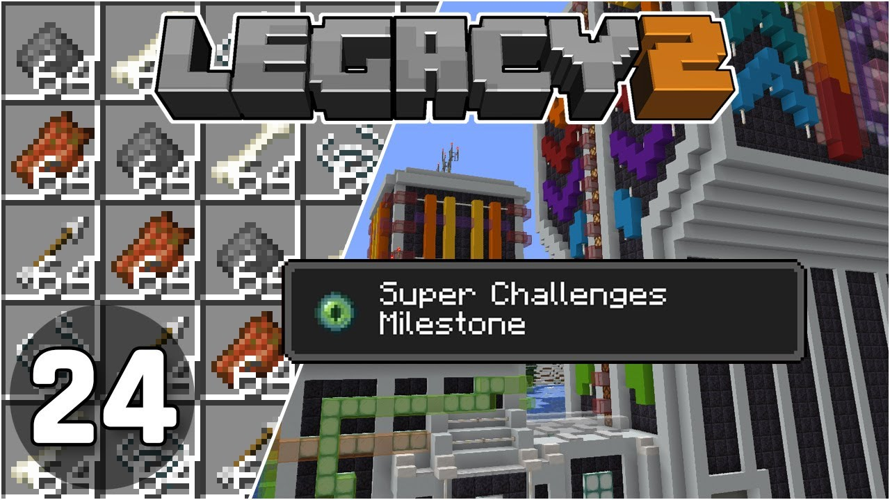 Mob Farm & Super Challenges Complete! - Legacy SMP 2: #24 | Minecraft 1.16 Survival Multiplayer