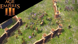 Age of Empires 3 - 4v4 Expert AI With Indians - Multiplayer Gameplay