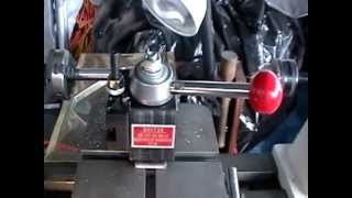 Wood Lathe Modified To Turn Metal Part 1.mpg