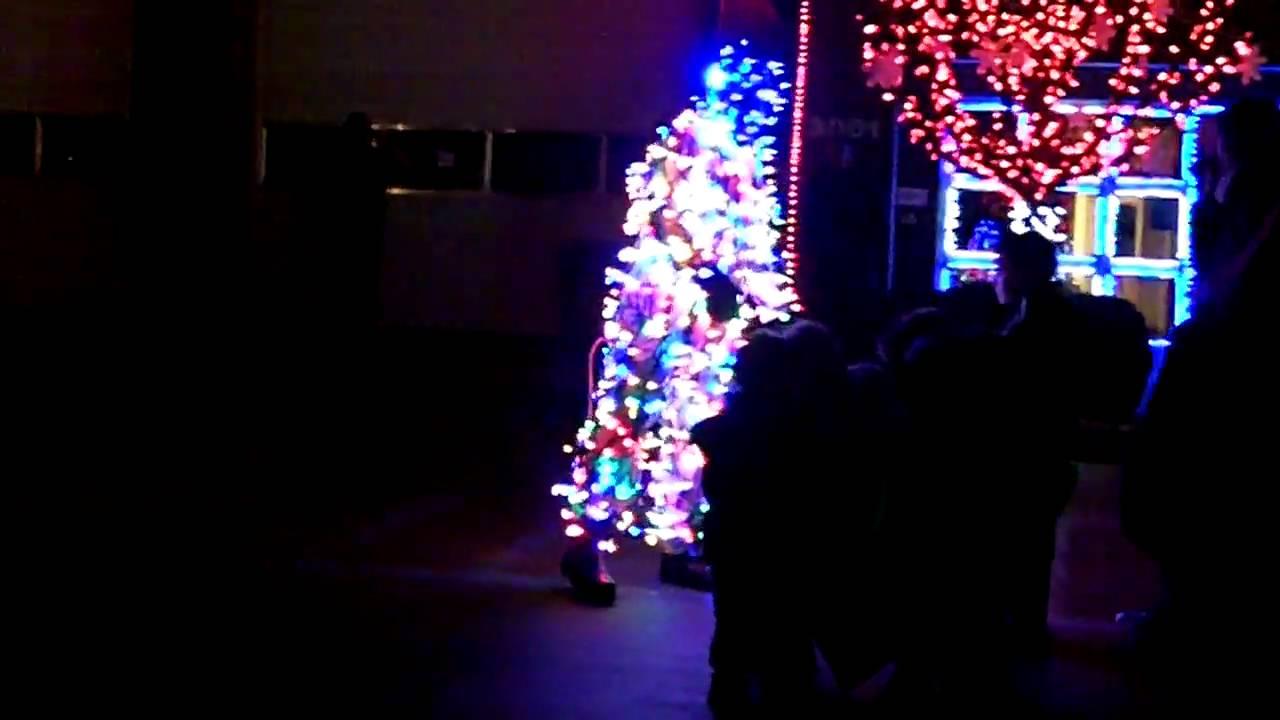 Fireman Dancing with Christmas Lights - YouTube