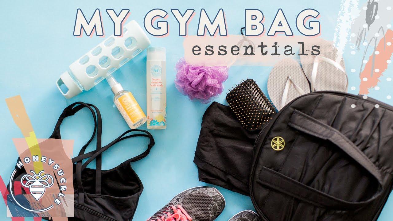 3b78774dfc6d1e My Gym Bag Essentials + Workout Food - Honeysuckle - YouTube