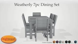 Weatherly 7pc Dining Set AD DNW37